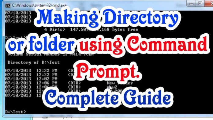 What command creates a subdirectory under a directory?